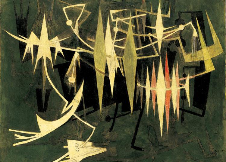 À la fin de la nuit [Le Lever du jour], 1969. Oil on canvas. Private Collection