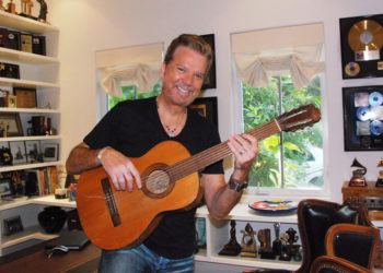 Willy Chirino in his office. Photo: Sarabanda Productions