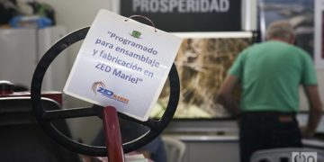 """For assembly and production at the Mariel Special Development Zone"". Photo: Claudio Pelaez Sordo"