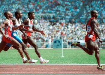 The Canadian Ben Johnson, known for his disqualification for doping after winning the final of the 100 meters at the 1988 Olympics in Seoul.