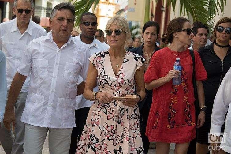 On her tour through Camagüey. Photo: Ismario Rodríguez.