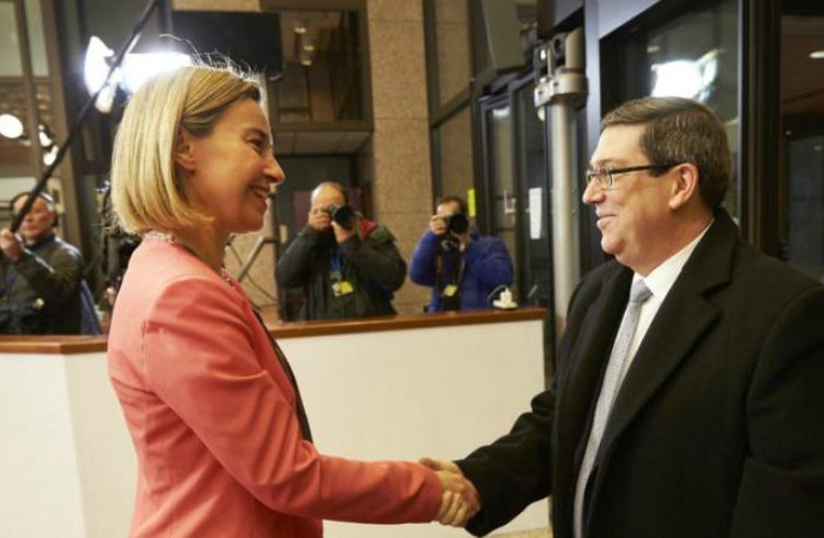 Federica Mogherini and Cuban Foreign Minister Bruno Rodríguez Parrilla. Photo: European Council.