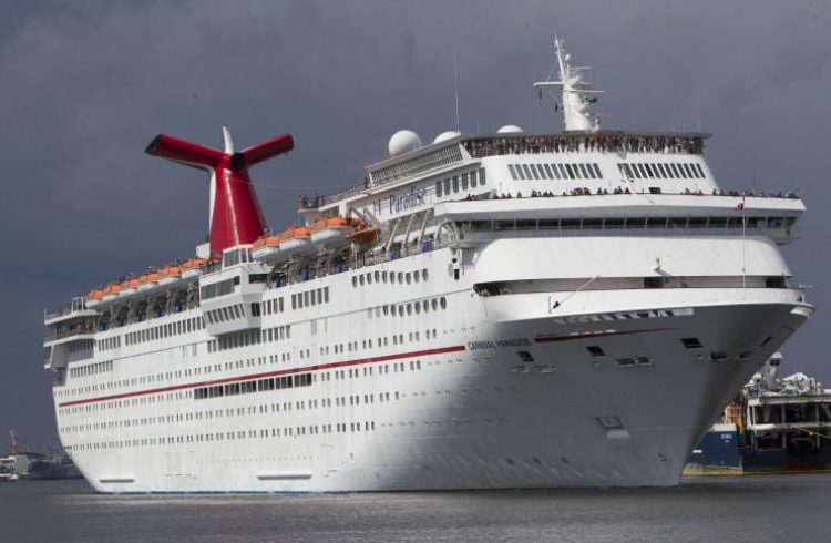 The Carnival Paradise on its inaugural trip from Tampa to Cuba. Photo: Monica Herndon / Times.