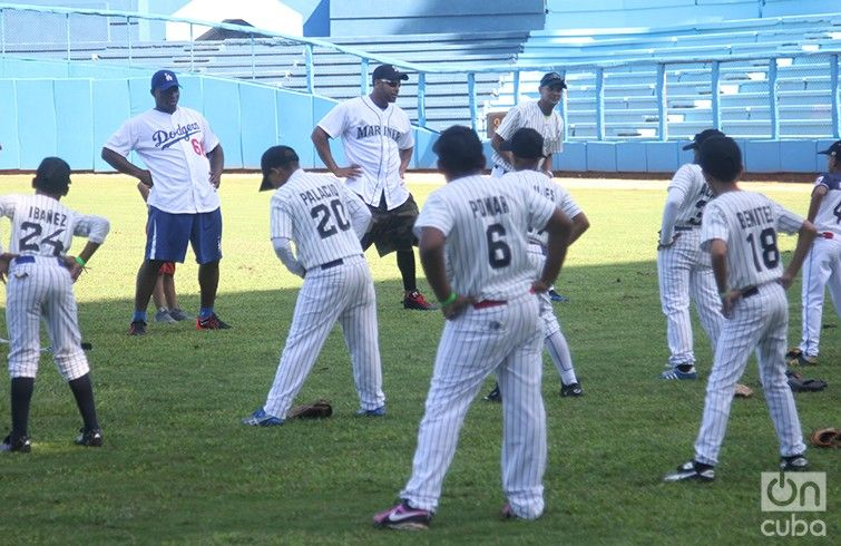 Clinic given by MLB players in Cuba in December 2015. Photo: Roberto Ruiz.