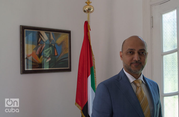 His Excellency Mr. Bader Abdullah Al Matrooshi, ambassador of the United Arab Emirates in Cuba. Photo: Otmaro Rodríguez.
