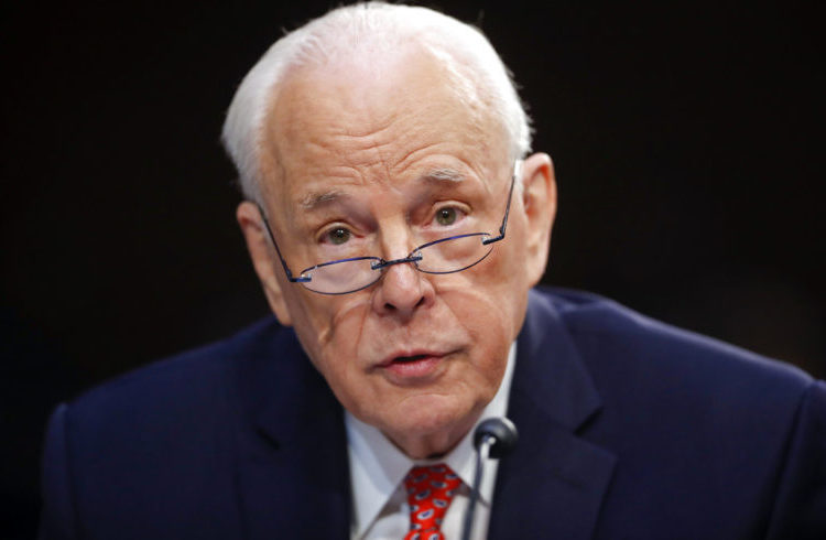 John Dean, who was White House Counsel to President Richard Nixon, during the Senate Committee on the Judiciary hearing. For months now, the presidency's scandals are bringing echoes of Watergate, the scandal that brought down Nixon's presidency. Photo: Pablo Martinez Monsivais / AP.