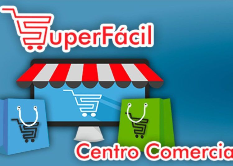 """Screenshot of the cover of the """"Súper fácil"""" digital commercial center, created by the Information Technology and Advanced Telematics Services Company (CITMATEL) of Cuba."""