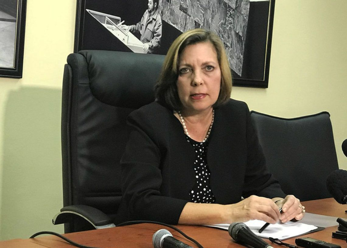 Josefina Vidal in the Cuban Foreign Ministry months ago. Photo: @CubaMINREX.