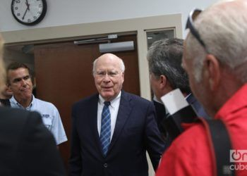 Senator Patrick Leahy during a visit to Cuba in 2017. Photo: Ismario Rodríguez.