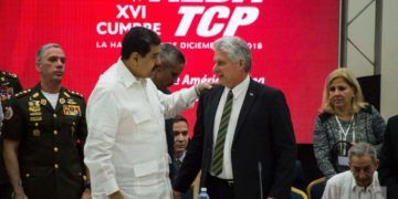 Cuban and Venezuelan Presidents Miguel Díaz-Canel (c-r) Nicolás Maduro (c-l), during the 6th ALBA Summit of Heads of State and Government held on December 14, 2018 in Havana. Photo: Otmaro Rodríguez.