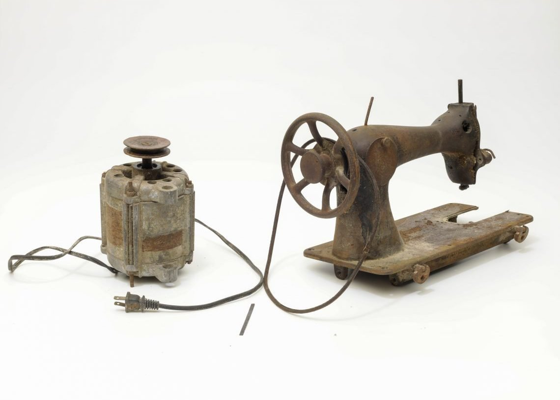 A sewing machine remodeled in Cuba. Photo: Courtesy of Cade Museum.