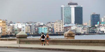 Havana's Malecón, April 2019. Photo: Ernesto Mastrascusa/EFE.