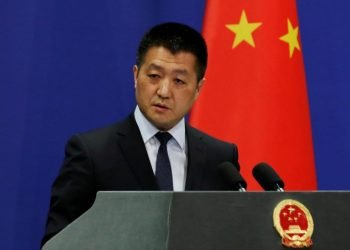 Chinese Foreign Ministry Spokesman Lu Kang. Photo: Reuters.
