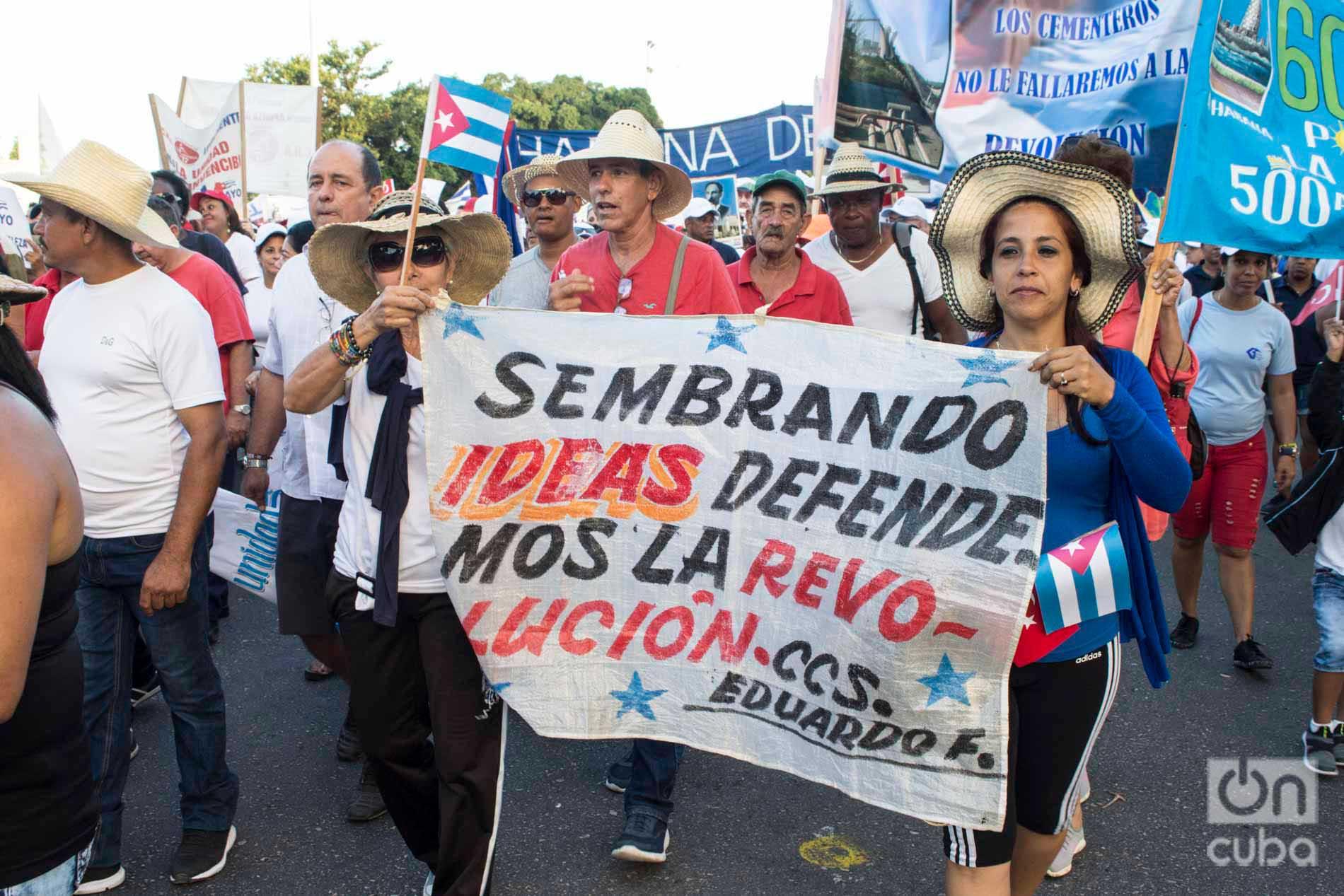 International Workers Day parade, on May 1, 2019 in Havana's José Martí Revolution Square. Photo: Otmaro Rodríguez.