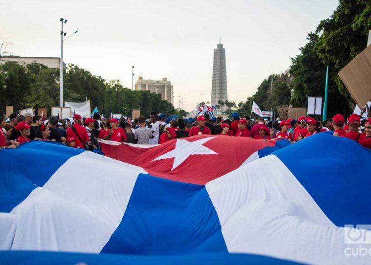 International Workers Day parade, on May 1, 2019, in Havana's José Martí Revolution Square. Photo: Otmaro Rodríguez.