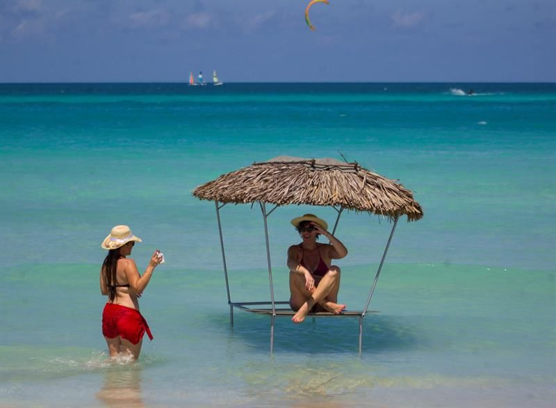 Varadero, declared by TripAdvisor as the second best beach in the world, in Matanzas. Photo: Yander Zamora/EFE.
