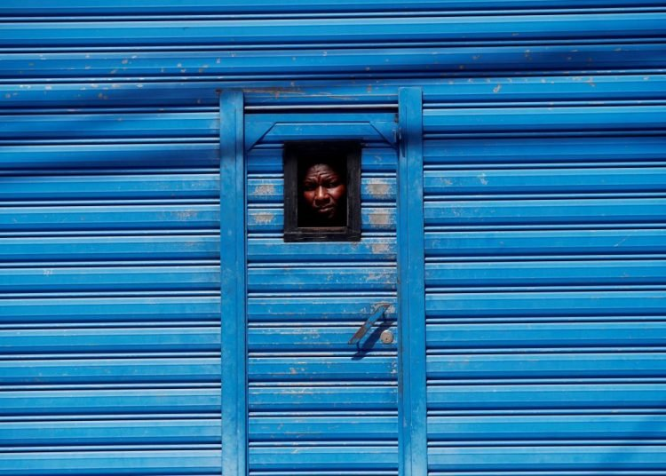 Haitian migrant on Monday, June 11, at the Migration general shelter in zone 5 of Guatemala City. Photo: Esteban Biba/EFE.
