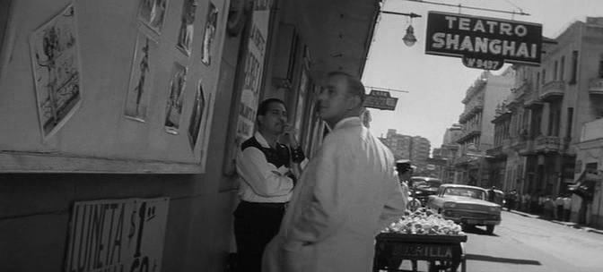 """The entrance to Shanghai. Film """"Our Man in Havana"""" (1959)."""