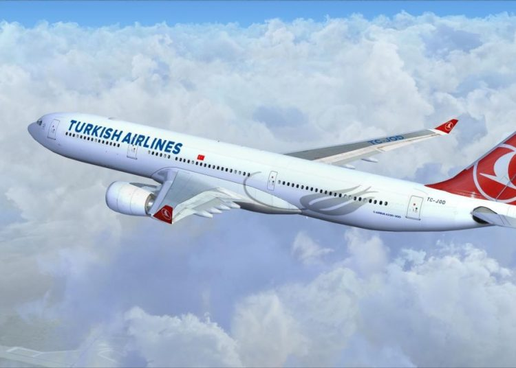 Turkish Airlines airplane. Photo: Informe Aéreo.