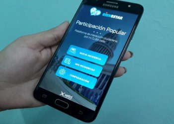 """Cuban """"People's Participation"""" app for android mobiles, which aims to facilitate """"citizen complaints"""" and the link with """"government authorities."""" Photo: Granma."""