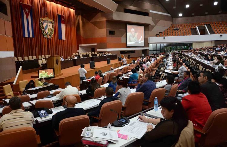 Cuban National Assembly session, in the Havana Convention Center, on December 20, 2018. Photo: Marcelino Vázquez / ACN.