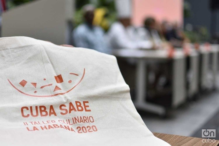 Press conference of the second Cuba Sabe Culinary Workshop, to be held in Havana in January 2020. Photo: Otmaro Rodríguez.