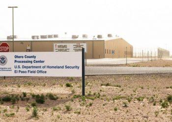 Otero County Processing, New Mexico, United States. Photo: @VozDiasporaSV / Twitter.