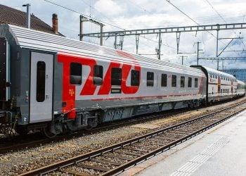 Russian Railroad Company (RZD) train. Photo: Pinterest