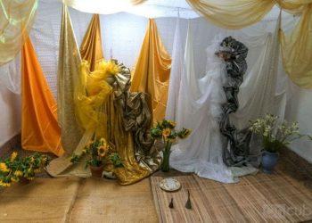 Decoration in honor of Oshún and Obbatalá. Photo: Carlos Ernesto Escalona Martí (Kako).