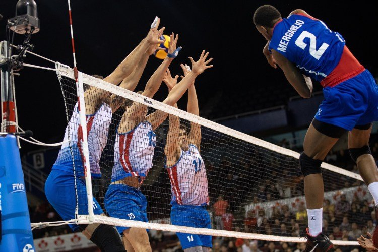 Cuba defeated Puerto Rico 3-0 in the Volleyball Pre-Olympic in Vancouver, Canada. Photo: @ NorcecaInfo/Twitter