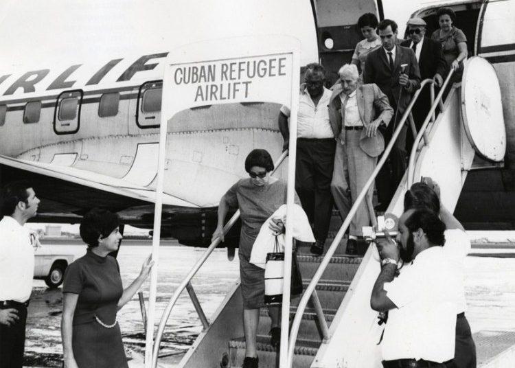 """Freedom Flights."" 1970. Photo: Esteban Martin, University of Miami Library."