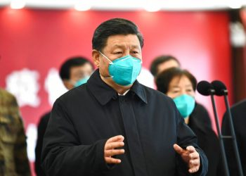 Chinese President Xi Jinping talks to patients and health workers by video at Huoshenshan Hospital in Wuhan, Hubei Province, Tuesday, March 10, 2020. Photo: Xie Huanchi / Xinhua via AP / Archive.