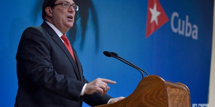 Cuban Foreign Minister Bruno Rodríguez at the headquarters of the Foreign Ministry in Havana, on September 20, 2019. Photo: Otmaro Rodríguez/Archive