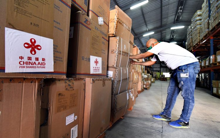 First batch of donations of medical supplies from China to Cuba. Photo: Xinhua/Joaquín Hernández.