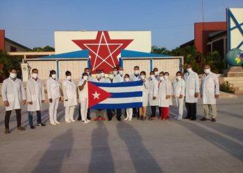Cuba sends medical brigade to fight COVID-19 in Cape Verde. Photo: @cuba_coopera/Twitter.