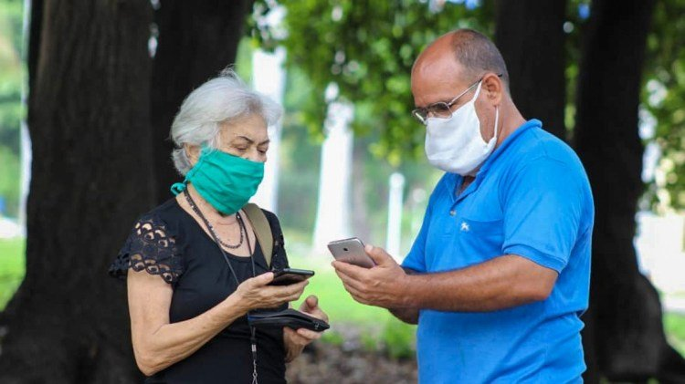 Viele Kubaner gehen mobil ins Internet | Bildquelle: https://oncubanews.com/en/cuba/etecsa-no-wrong-pricing-in-consumption-of-data-voucher/ © ETECSA_Cuba/Twitter | Bilder sind in der Regel urheberrechtlich geschützt