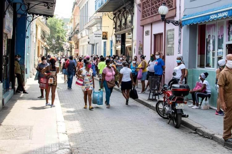 Obispo Street during the coronavirus. Photo: Otmaro Rodríguez.