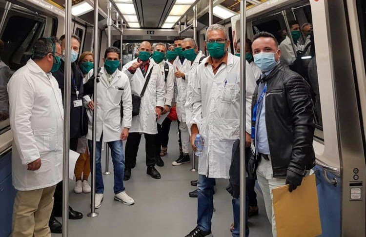 Members of the Cuban medical brigade in Andorra. Photo: @Gustavo Machín/Facebook.