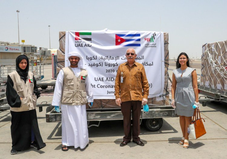 The Cuban ambassador to the United Arab Emirates, Roberto Blanco, thanked the solidarity aid. Photo: elcorreo.ae