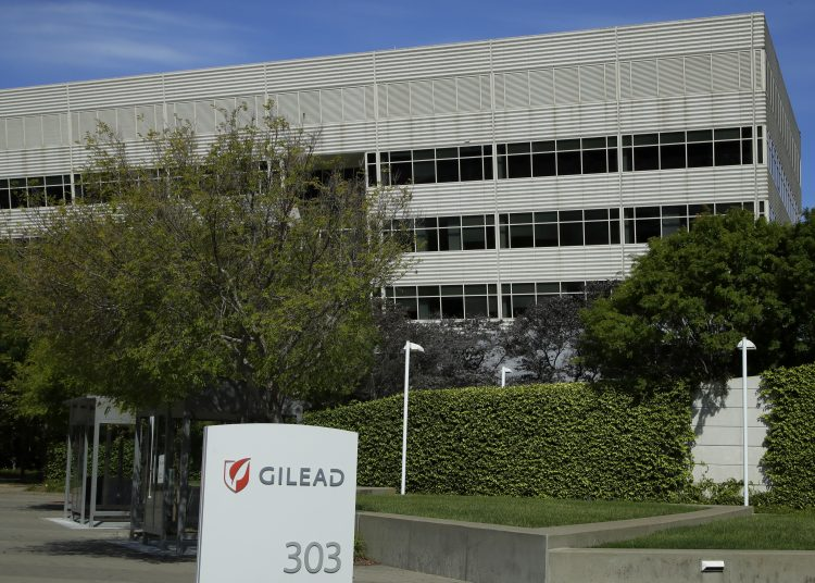 Headquarters of the pharmaceutical company Gilead Sciences, in Foster City, California. The company developed the Remdesivir treatment to treat the coronavirus. Photo: Ben Margot, AP