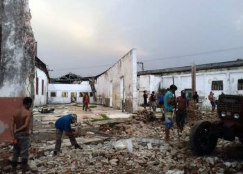 Damage caused by a tornado in the city of Palma Soriano, in eastern Cuba, on June 28, 2020. Photo: Radio Baraguá / Facebook.