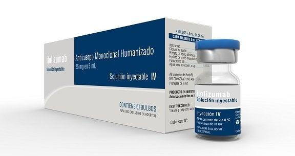 The Cuban drug Itolizumab used in the treatment against COVID-19. Photo: Courtesy of CIM/Cubadebate.