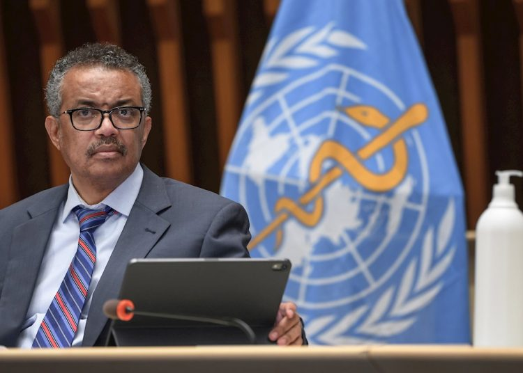 The director general of the World Health Organization (WHO), Tedros Adhanom. Photo: EFE/EPA/FABRICE COFFRINI/Archive