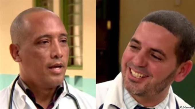 Cuban doctors Assel Herrera (left) and Landy Rodríguez (right), kidnapped on April 12, 2019, in Kenya, allegedly by members of the Al-Shabaab extremist group. Photo: Edited screenshot.