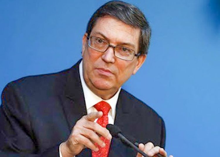 Cuban Minister of Foreign Relations Bruno Rodríguez. Photo: acn.cu