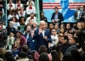 Joe Biden speaks at a rally organized by Mi Familia Vota, a national group of Latino voters, in Las Vegas on January 11, 2020. Photo: Joe Buglewicz/The New York Times.