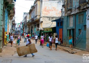 A street in Havana, during the outbreak of COVID-19. Photo: Otmaro Rodríguez.