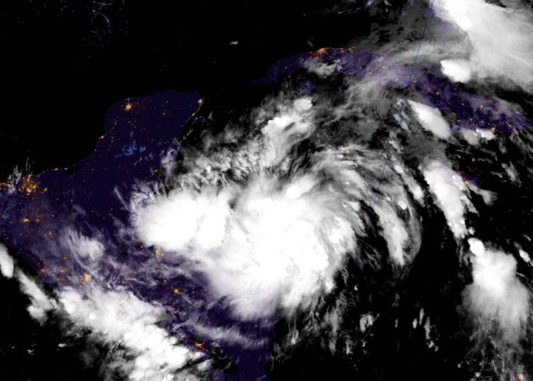 Satellite image of Tropical Storm Zeta. Photo: National Hurricane Center/Facebook.