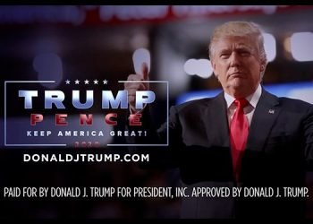 Final segment of a TV political ad for Donald Trump. Photo: Media Post.