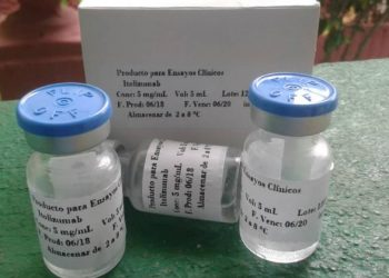 The Cuban drug Itolizumab used in the treatment of COVID-19. Photo: Courtesy of CIM / Granma